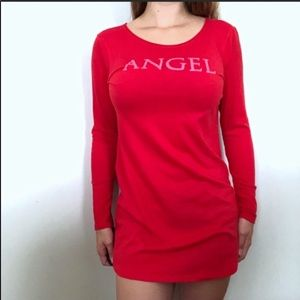 Victoria's Secret Angel Red Nightgown Small